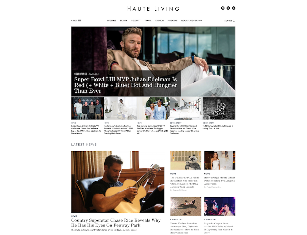 best luxury magazine Haute Living - Luxe Digital