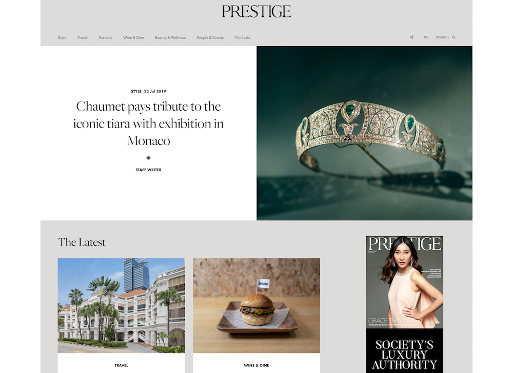 best luxury magazine Prestige - Luxe Digital