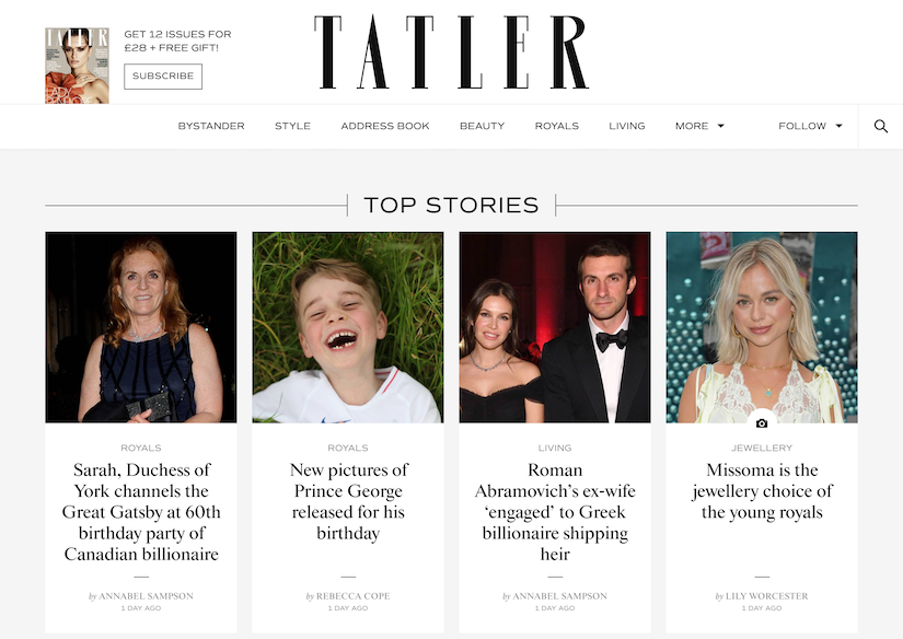 best luxury magazine Tatler - Luxe Digital