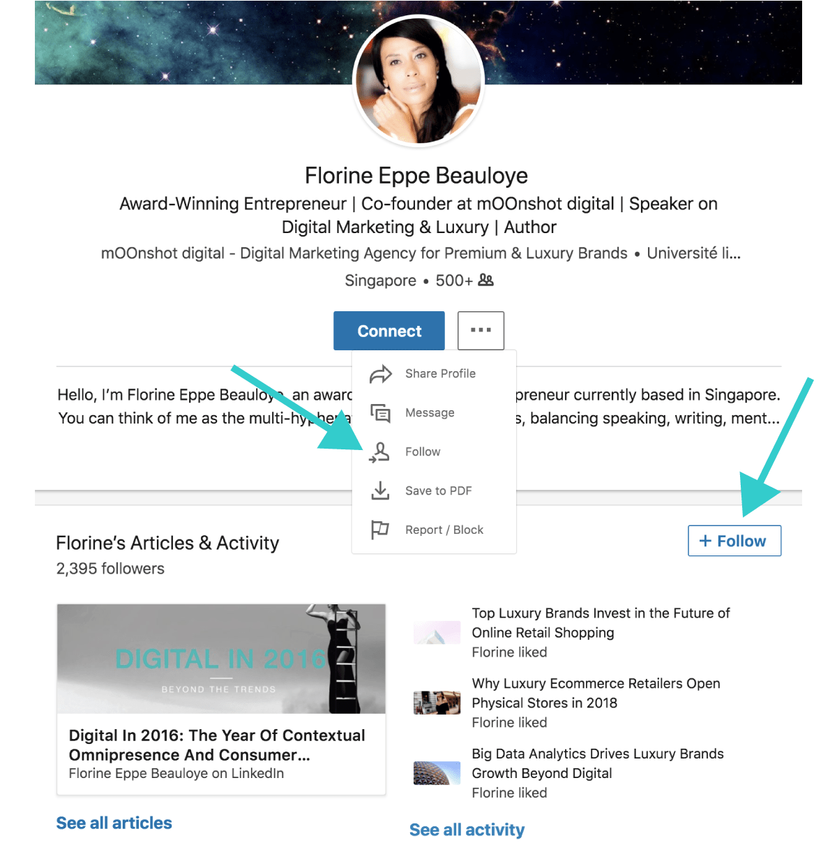 Luxe Digital top LinkedIn influencers how to follow