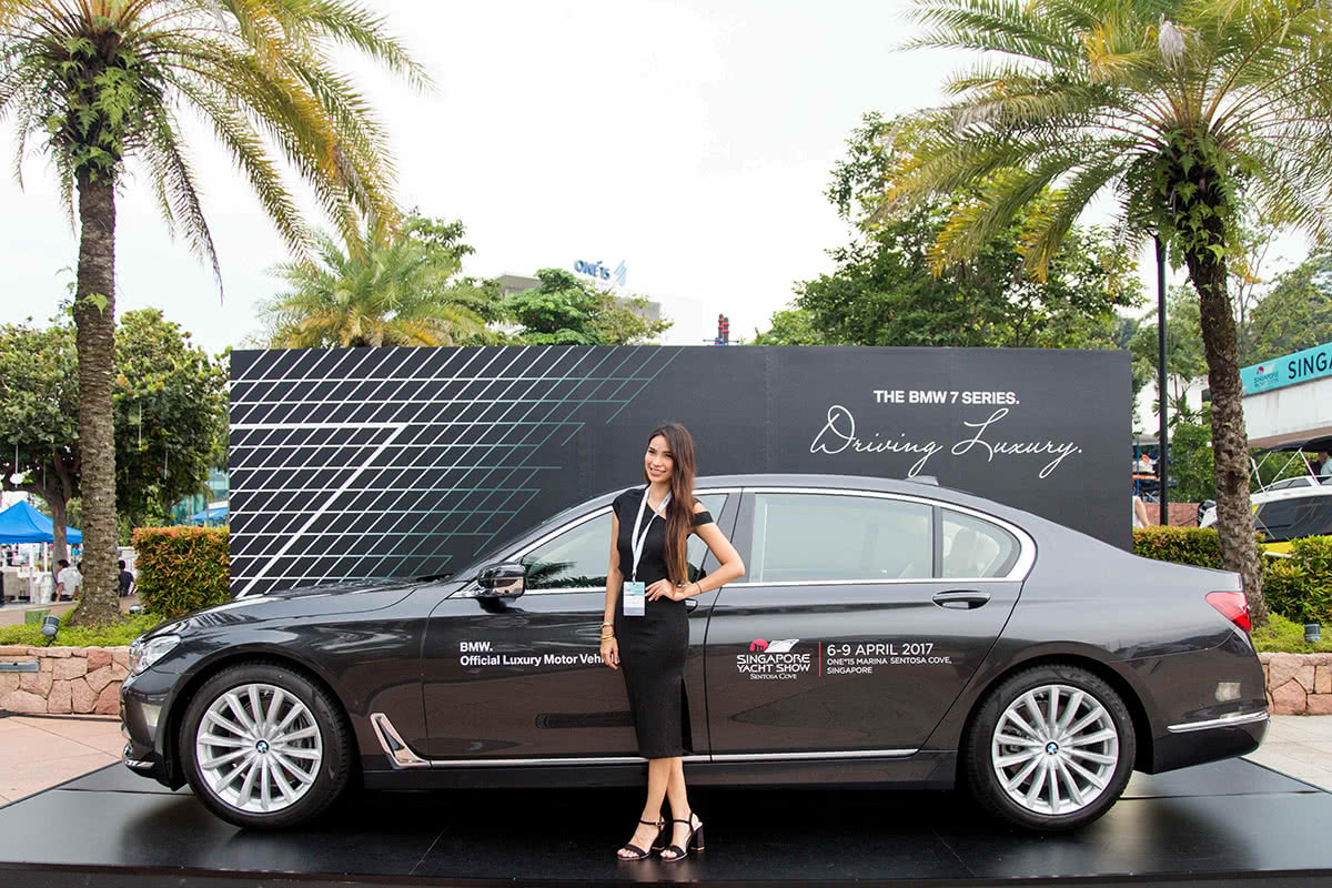 Luxe Digital luxury lifestyle Singapore yacht show 2018 car test drive