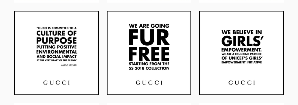 Gucci conscious values Luxe Digital luxury fashion Millennials