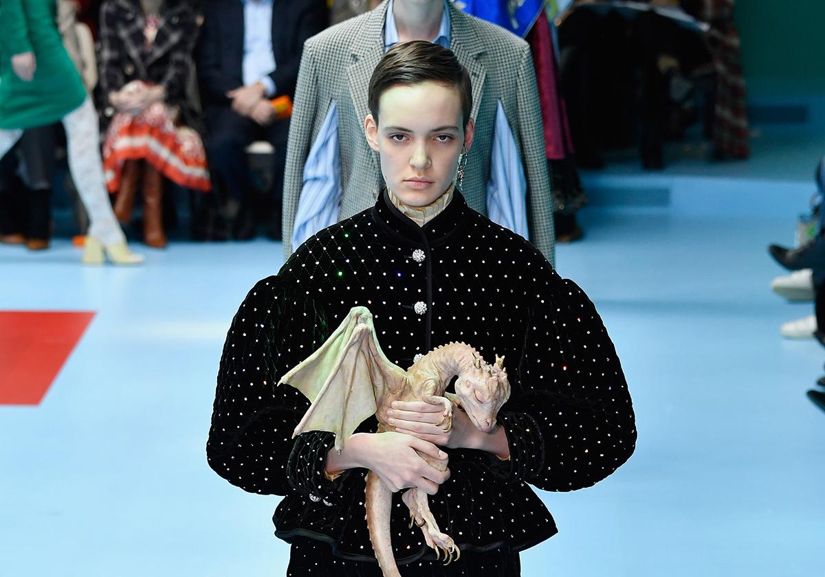 Gucci baby dragons Milan Fashion Week Luxe Digital luxury fashion Millennials