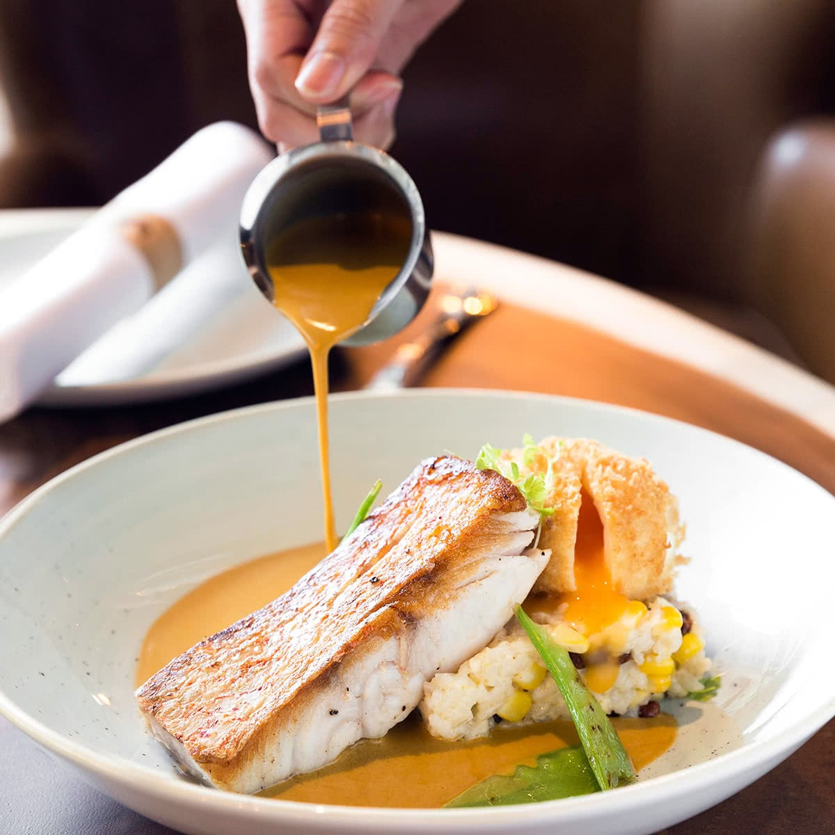 Luxe Digital The Bird MBS restaurant review Skillet Seared Barramundi