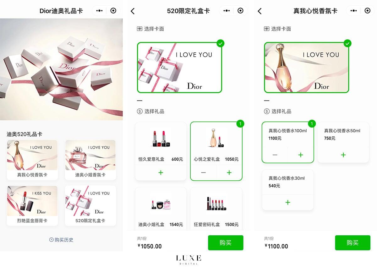 Luxe Digital luxury China WeChat Dior mini-program
