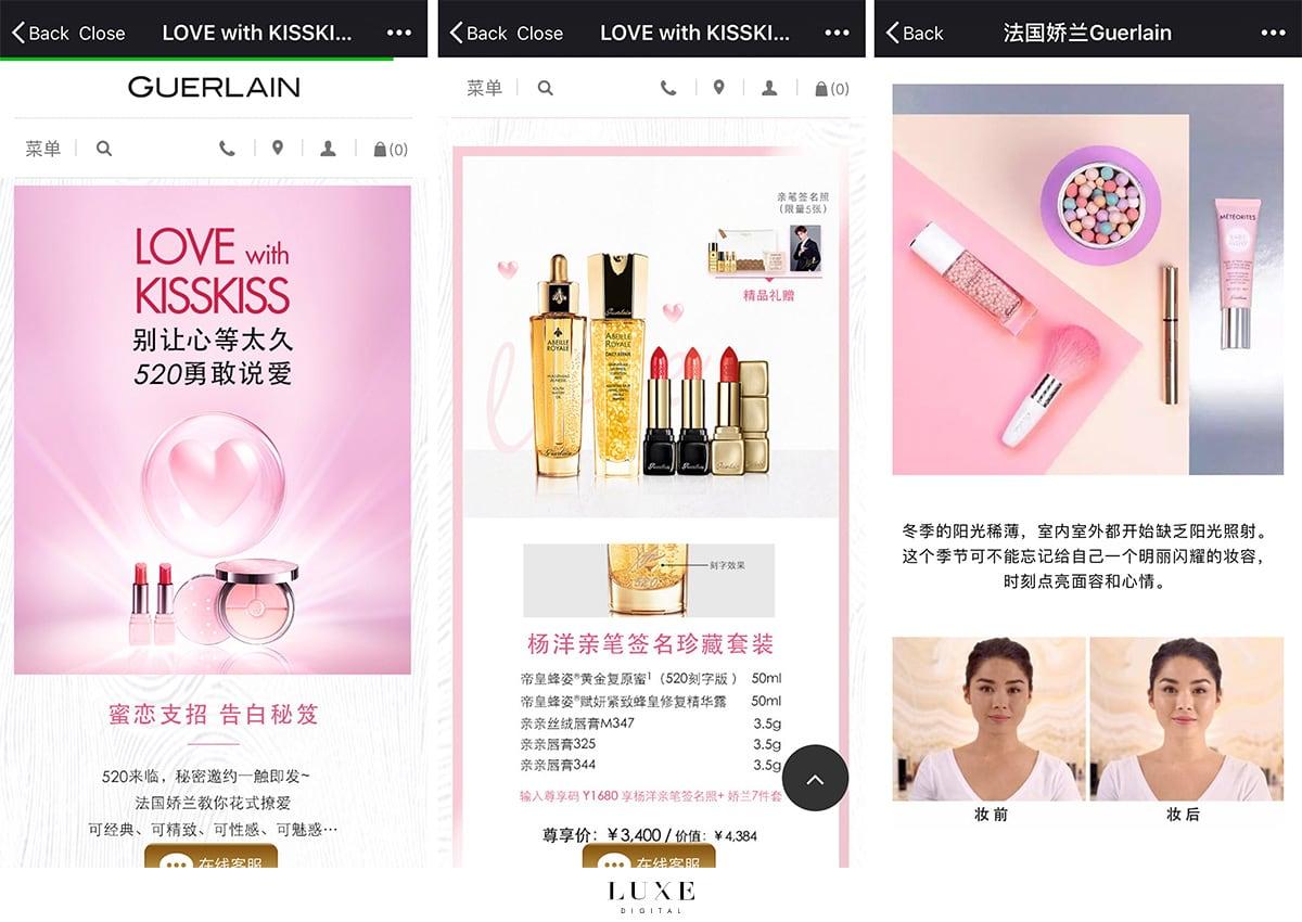 Luxe Digital luxury China WeChat Guerlain mini-program