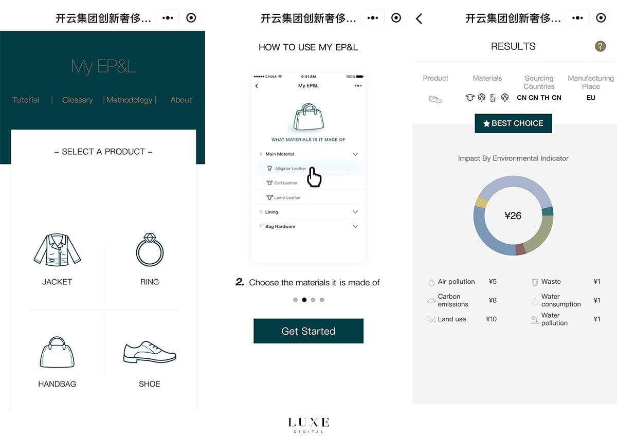 Luxe Digital luxury China WeChat Kering sustainability mini-program