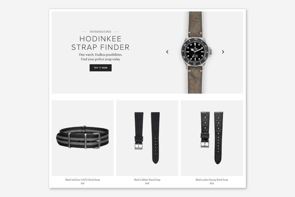 Luxe Digital luxury watch Hodinkee straps retail