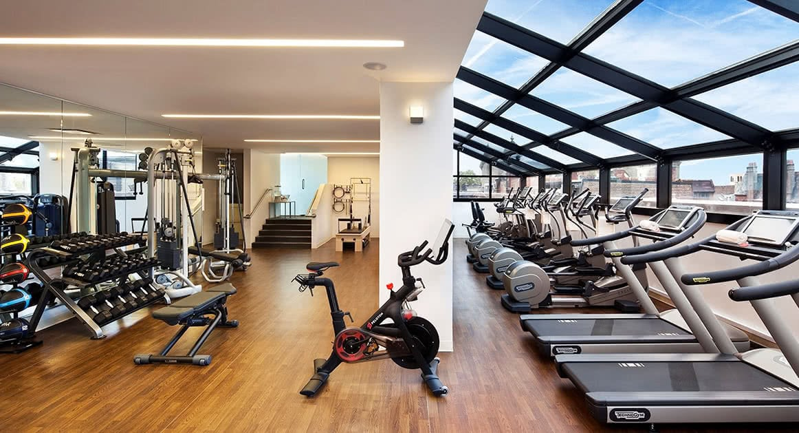 Luxe Digital luxury best hotel Philadelphia Rittenhouse gym