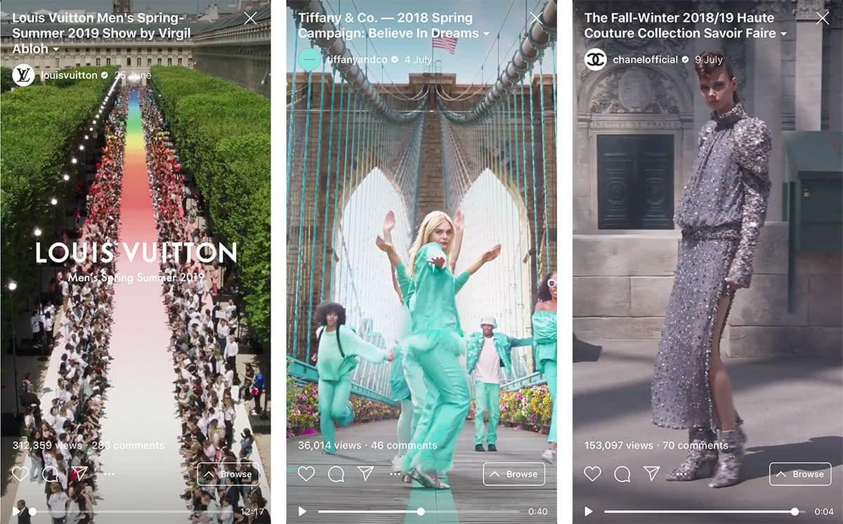 Luxe Digital online storytelling luxury vertical video stories instagram