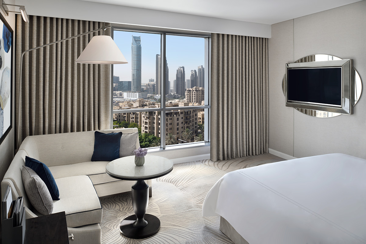 Luxe Digital luxury hotel Dubai Address Downtown bedroom