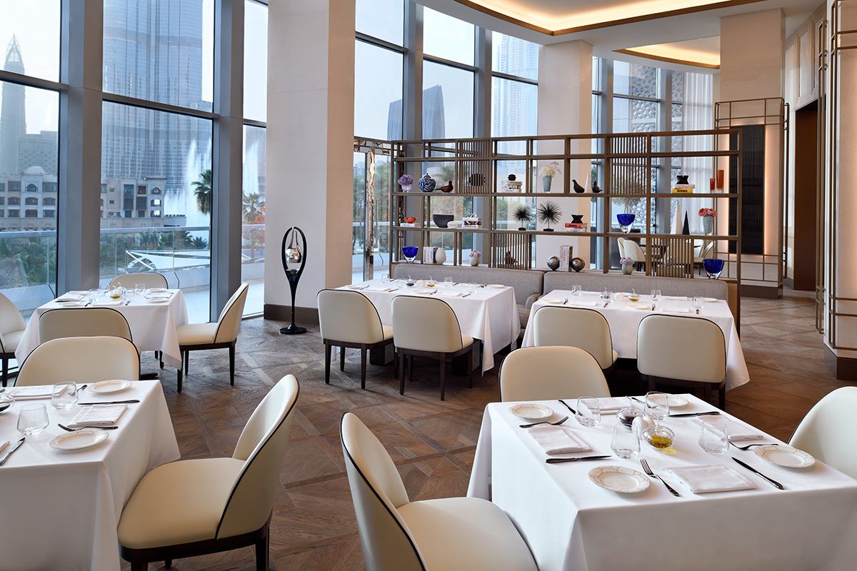 Luxe Digital luxury hotel Dubai Address Downtown restaurant