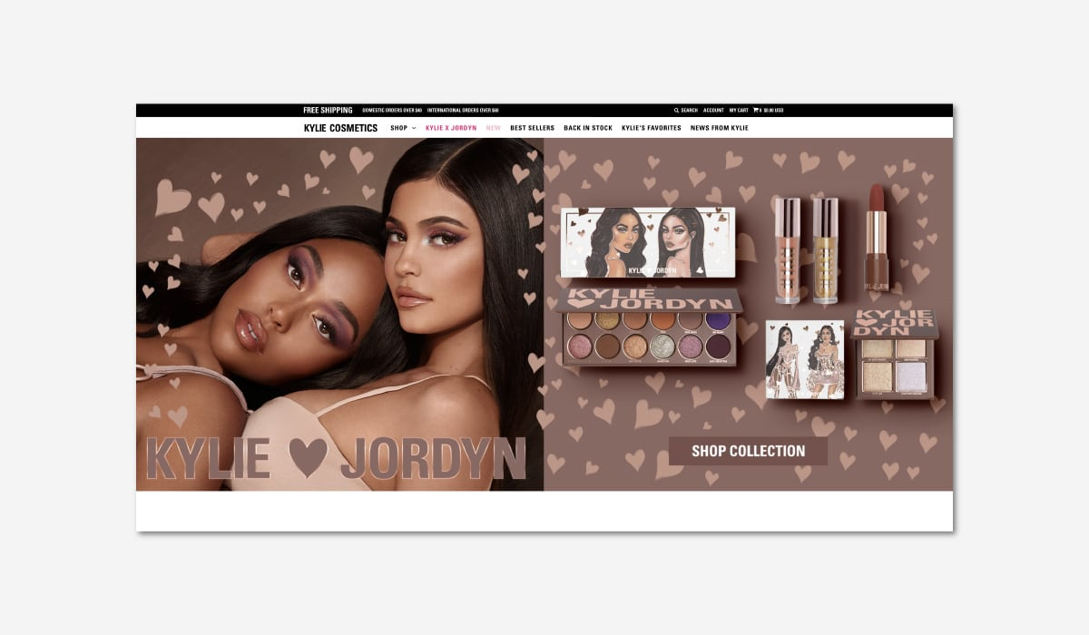 Kylie Jenner cosmetics website luxury beauty- Luxe Digital