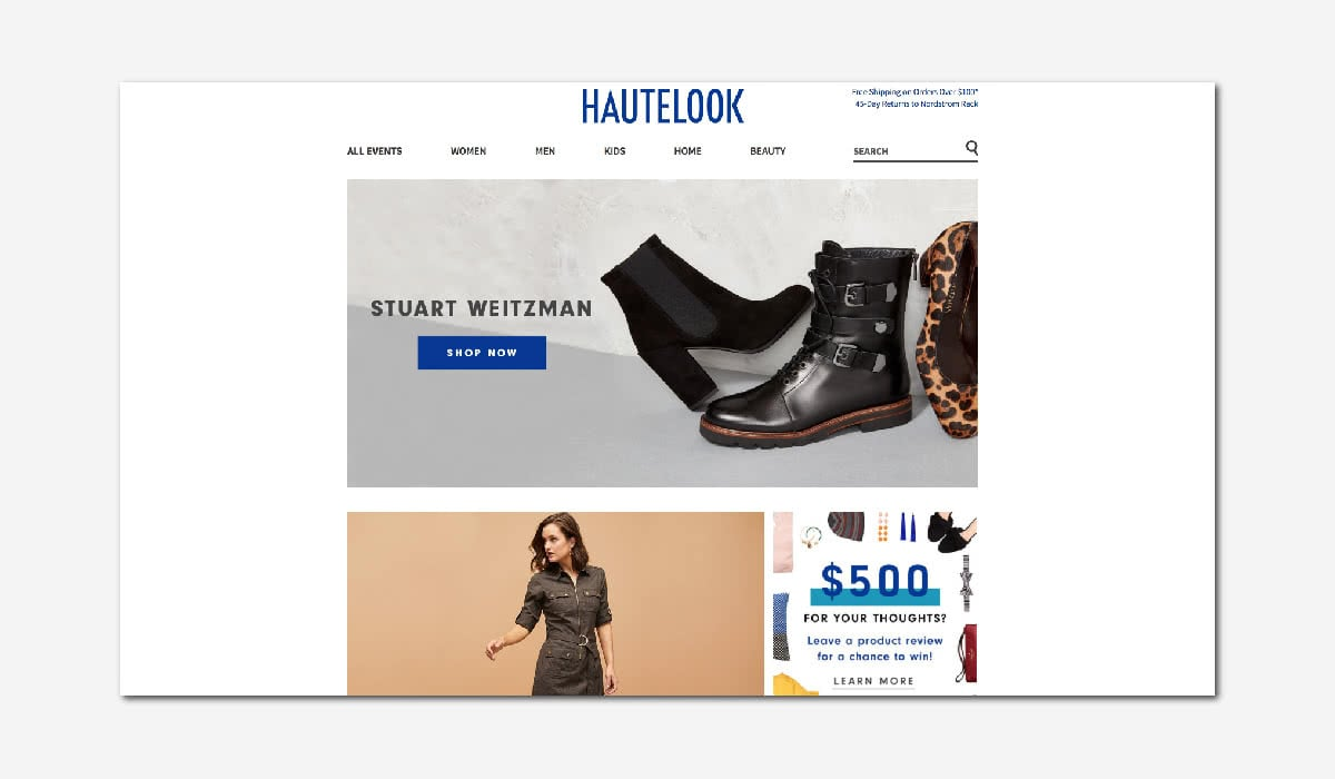 online luxury private sales discount website HauteLook Luxe Digital