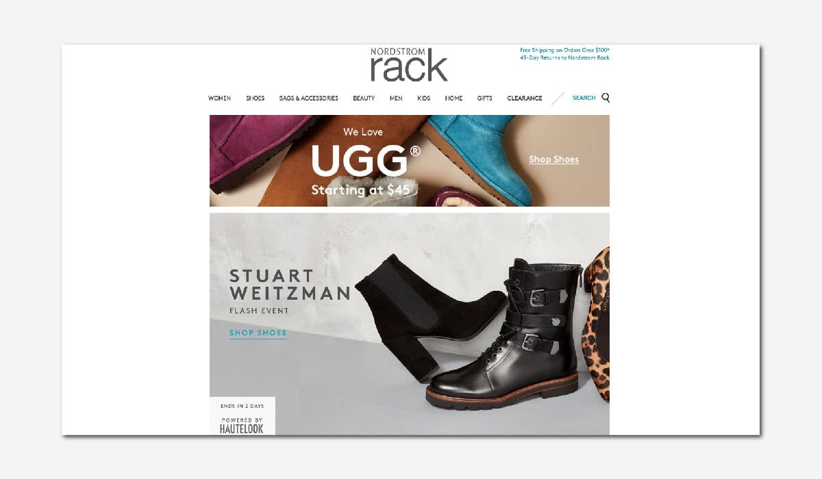 online luxury private sales discount website Nordstrom Rack Luxe Digital
