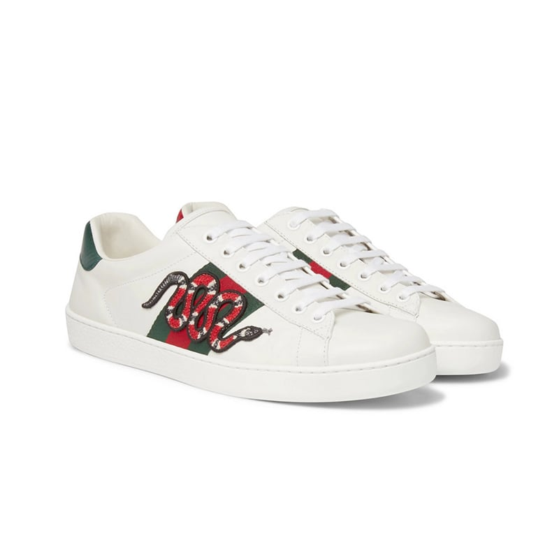 best gifts for him luxury guide gucci ace watersnake leather sneakers luxe digital