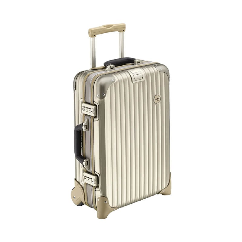 best Valentine's Day gifts for her rimowa gold metallic suitcase luxe digital