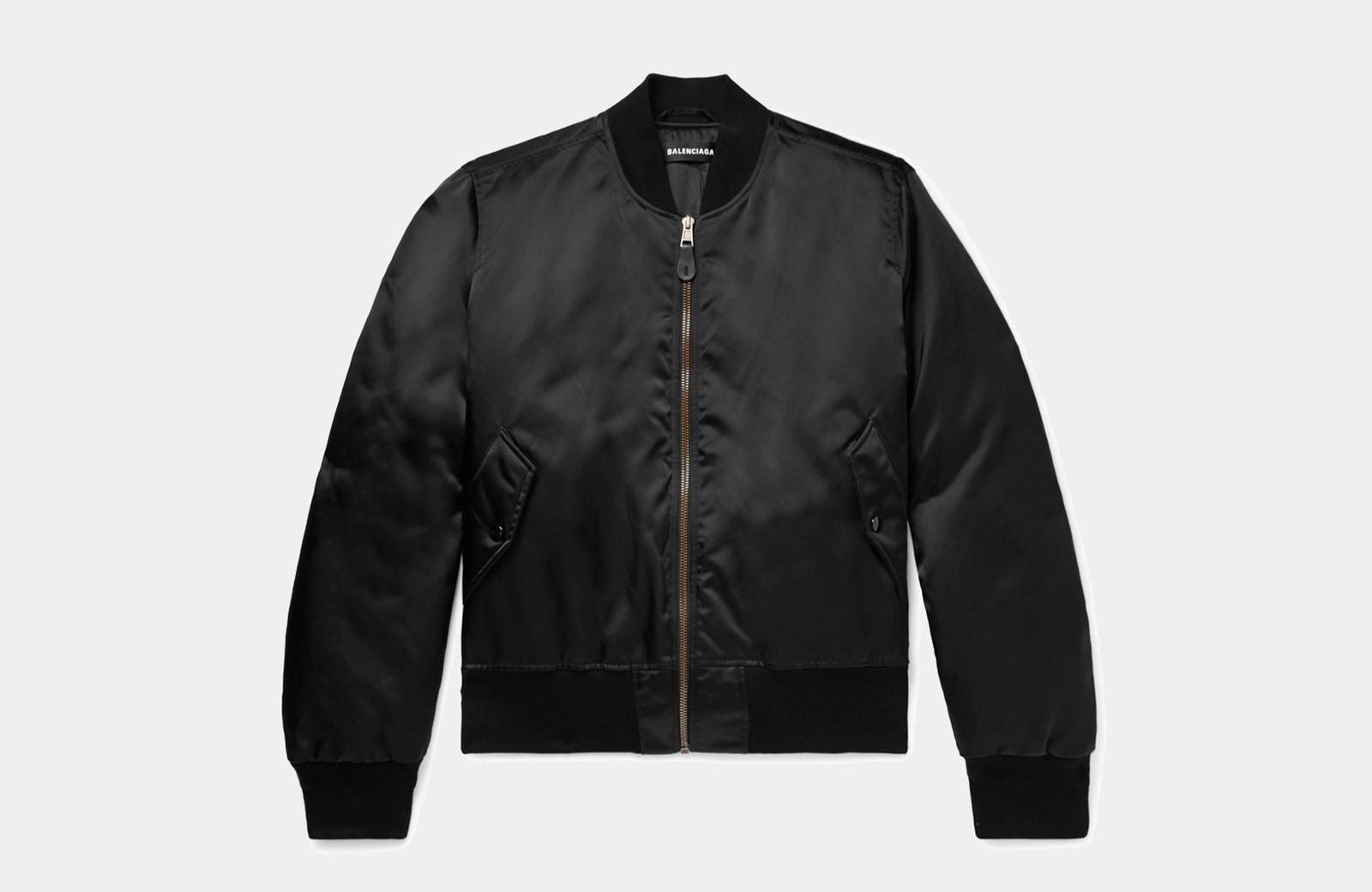 best black bomber jacket men Balenciaga luxury style - Luxe Digital