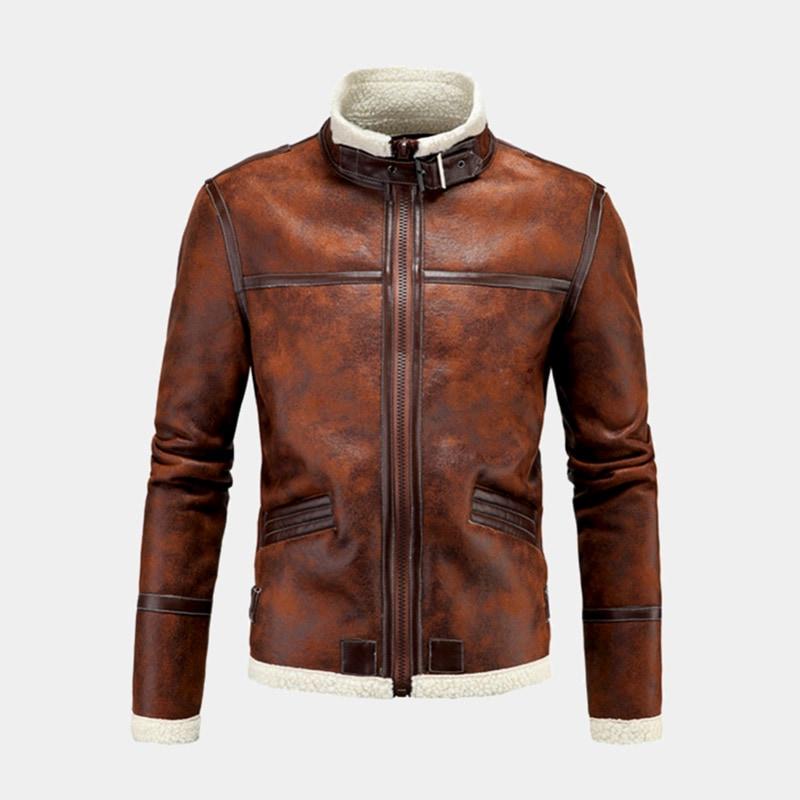 best brown bomber jacket men AOWOFS luxury style - Luxe Digital