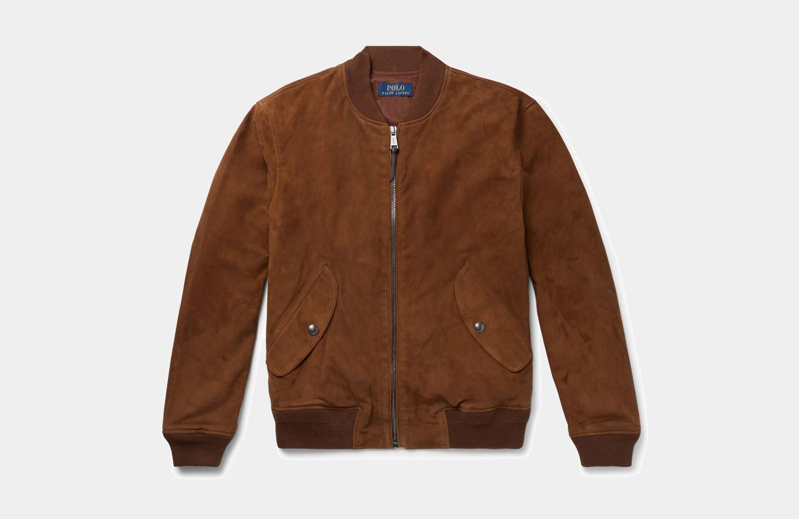 best brown bomber jacket men Polo Ralph Lauren luxury style - Luxe Digital