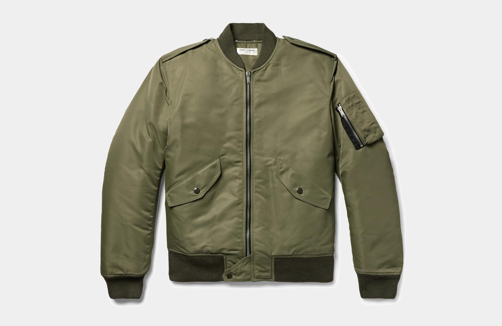 best green bomber jacket men Saint Laurent luxury style - Luxe Digital