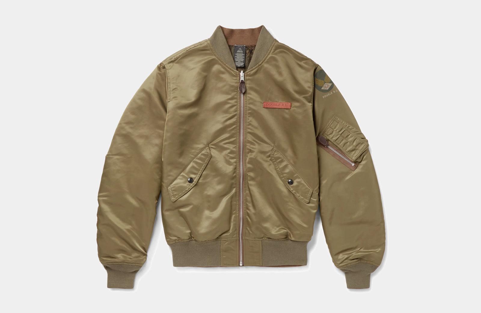 best olive bomber jacket men Ralph Lauren luxury style - Luxe Digital