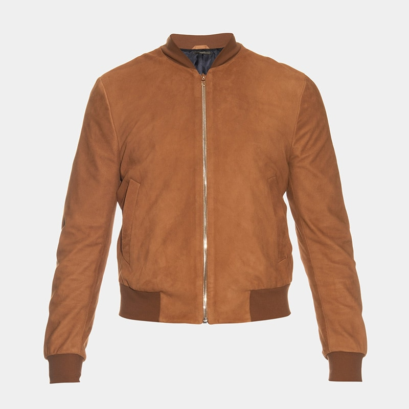 best tan bomber jacket men Reed luxury style - Luxe Digital