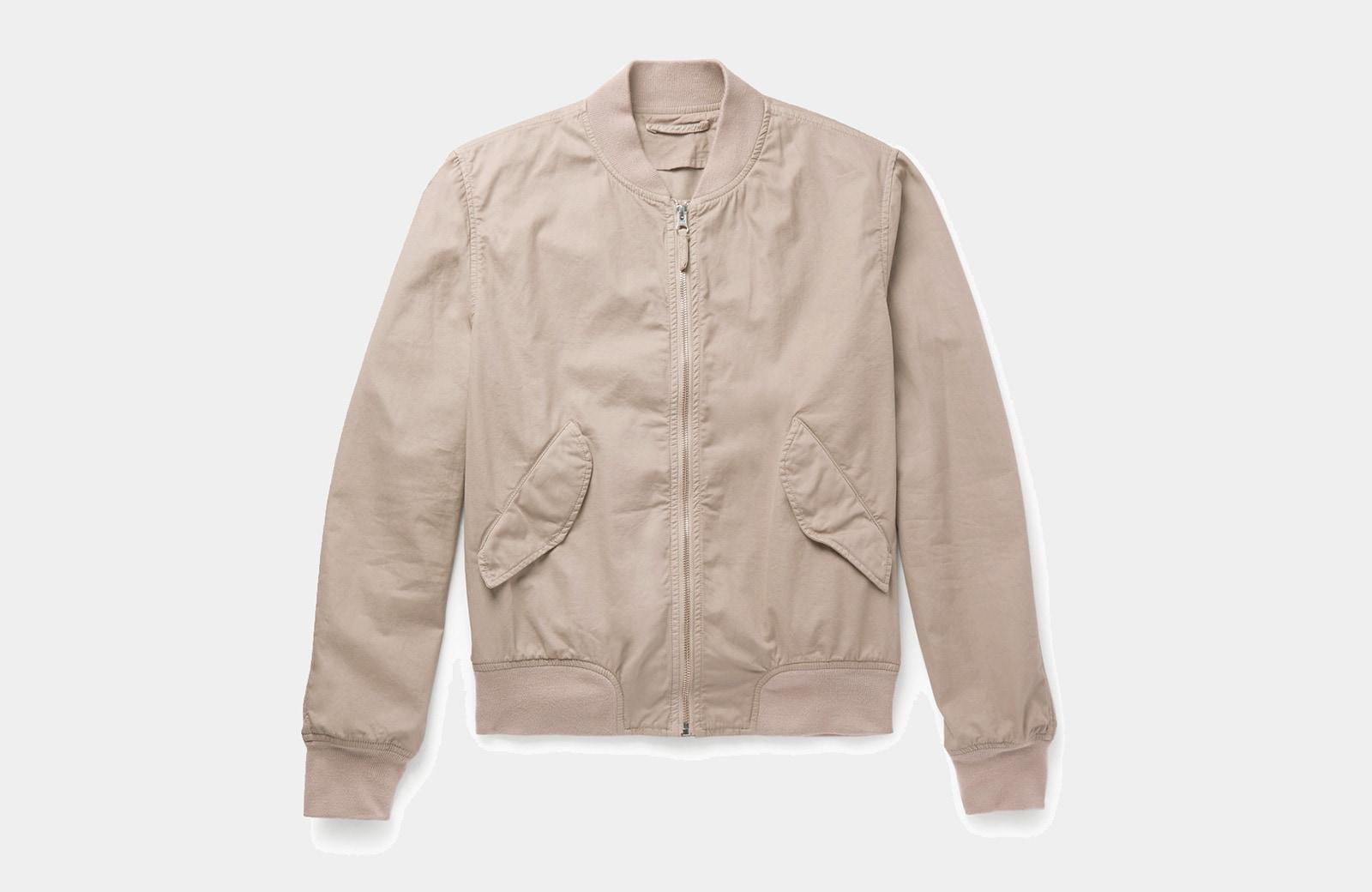 best khaki bomber jacket men Aspesi luxury style - Luxe Digital