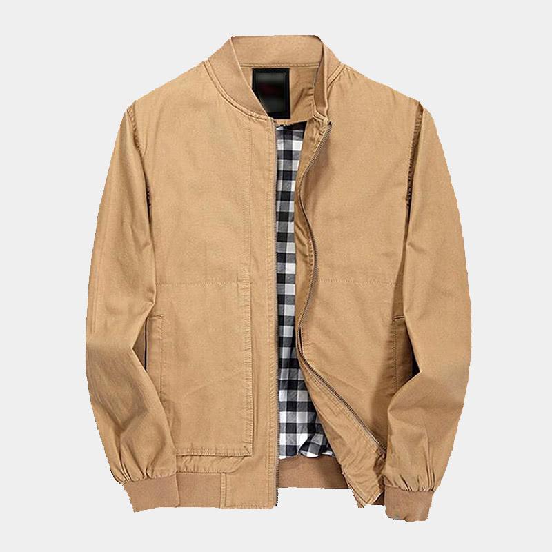 best khaki bomber jacket men Pishon luxury style - Luxe Digital