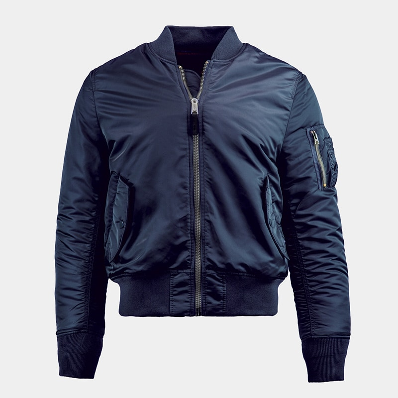 best blue bomber jacket men Alpha Industries luxury style - Luxe Digital