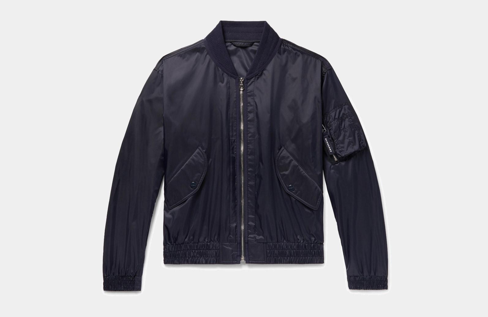 best blue bomber jacket men Burberry luxury style - Luxe Digital