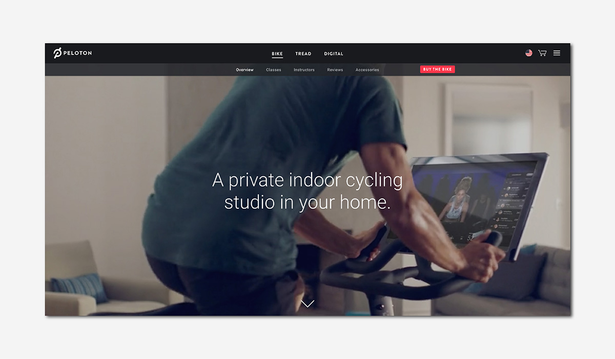 luxury wellness fitness peloton bike luxe digital