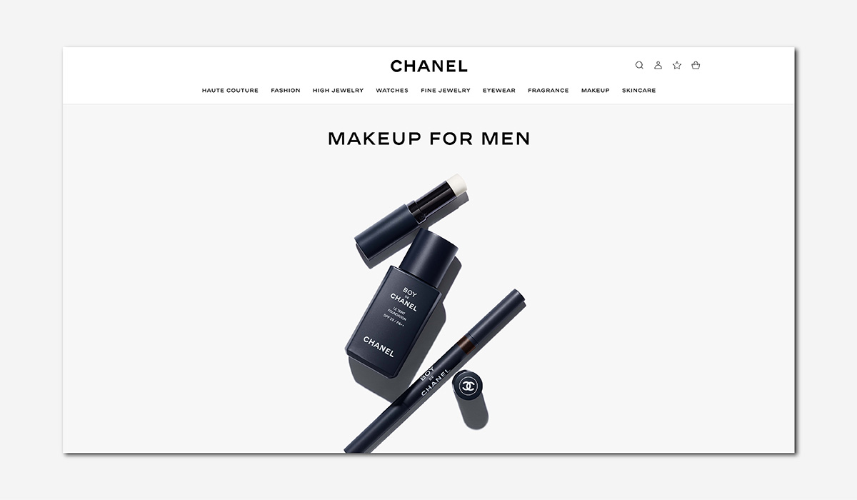 luxury wellness beauty boy de chanel men makeup luxe digital