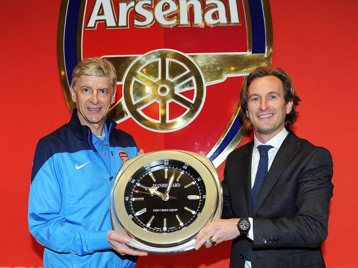 Arsenal announce JeanRichard partnership