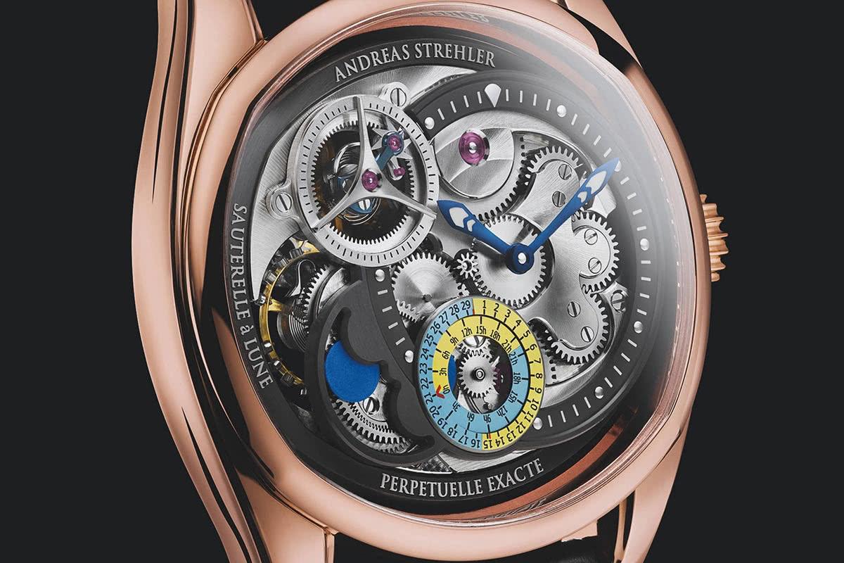 Andreas Strehler Papillon Sauterelle à Lune Exacte - luxury watch Luxe Digital