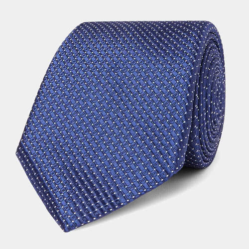 cocktail attire men blue tie Canali - Luxe Digital