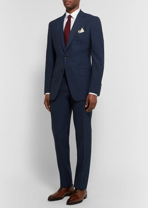 cocktail attire men navy suit Tom Ford - Luxe Digital