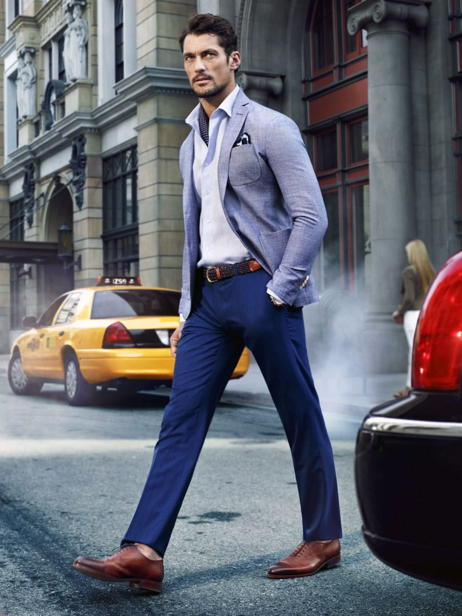A slightly dressier take on smart casual with David Gandy
