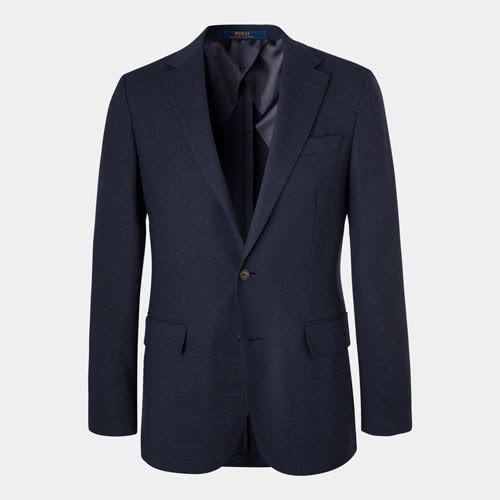 POLO RALPH LAUREN Navy Slim-Fit Unstructured Woven Blazer