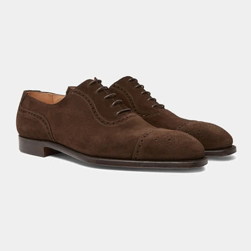 GEORGE CLEVERLEY Adam Suede Oxford Brogues