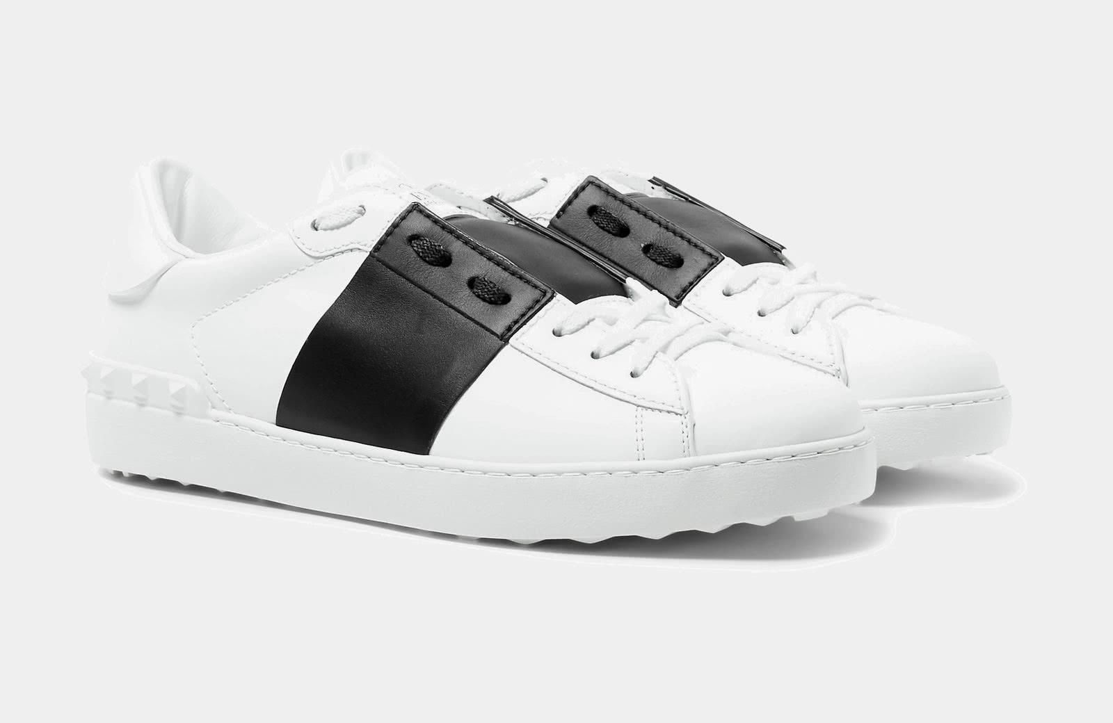 best black and white sneaker men Valentino Garavani luxury style - Luxe Digital