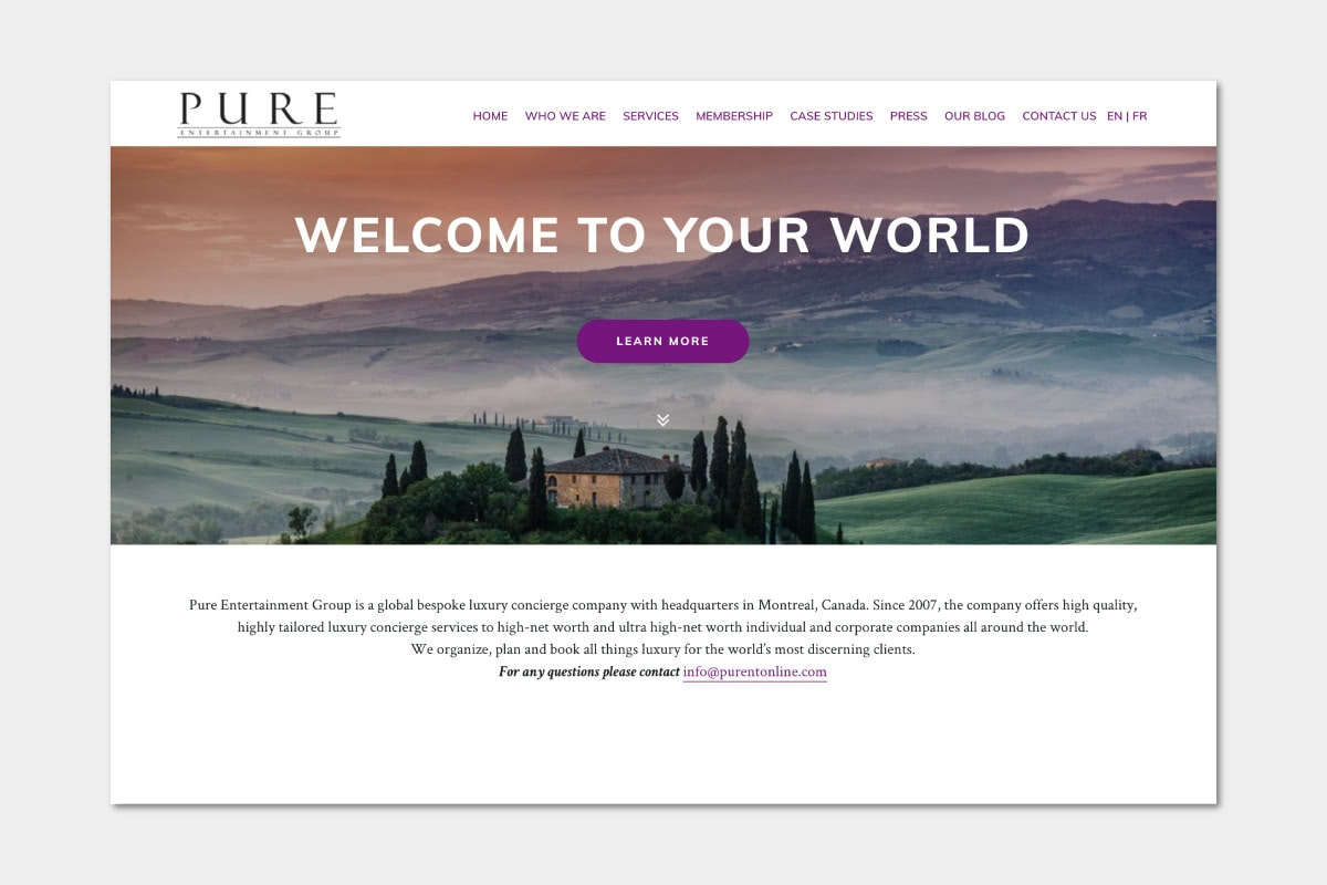 Best Luxury Concierge companies Pure Entertainment Group - Luxe Digital