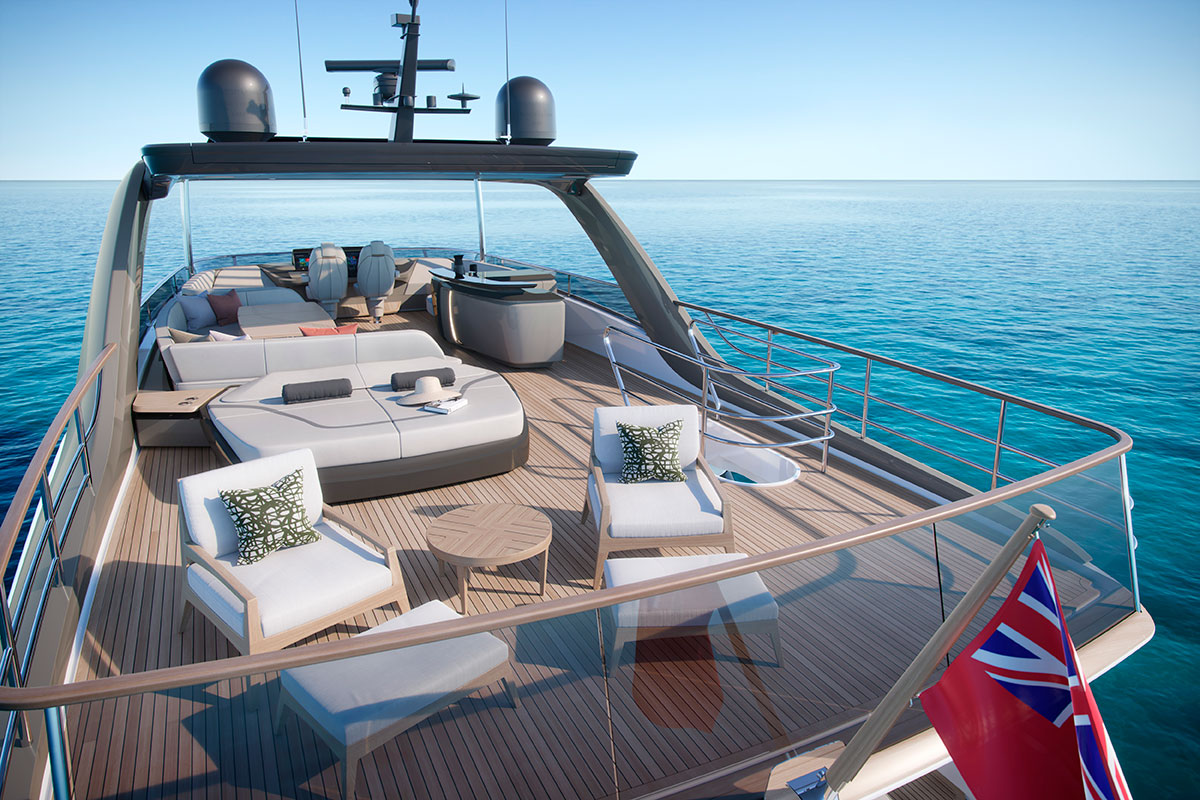 Princess Y85 exterior luxury yacht - Luxe Digital