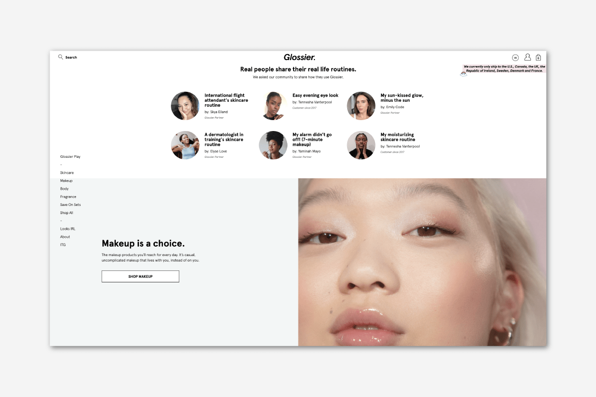 Experiential Luxury Glossier - Luxe Digital