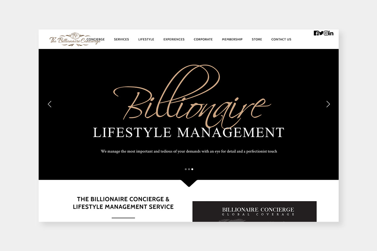 Best Luxury Concierge companies The Billionaire - Luxe Digital