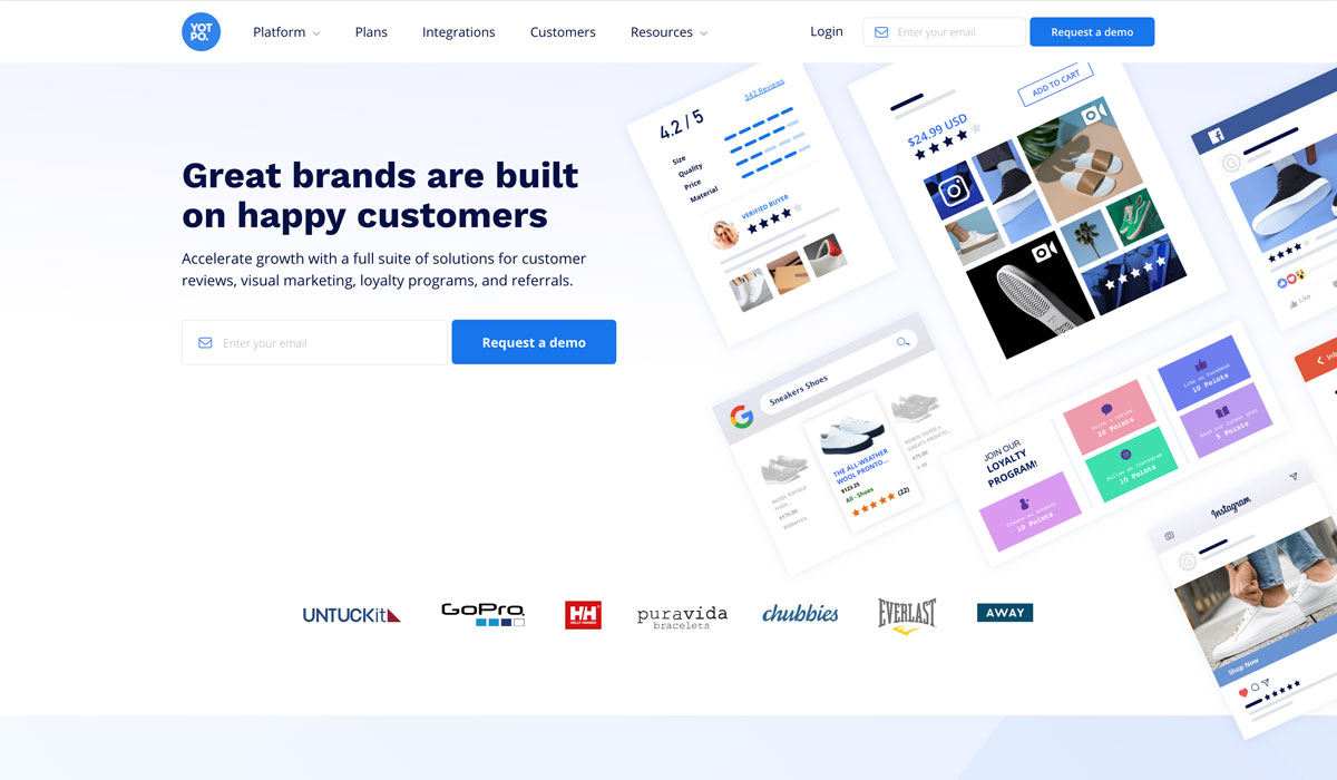 best customer review app for Shopify C2C Yotpo - Luxe Digital