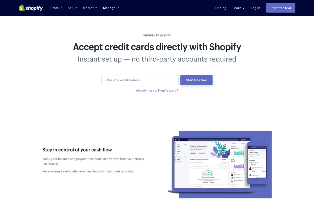 best Shopify payment solution that accepts credit cards online - Luxe Digital