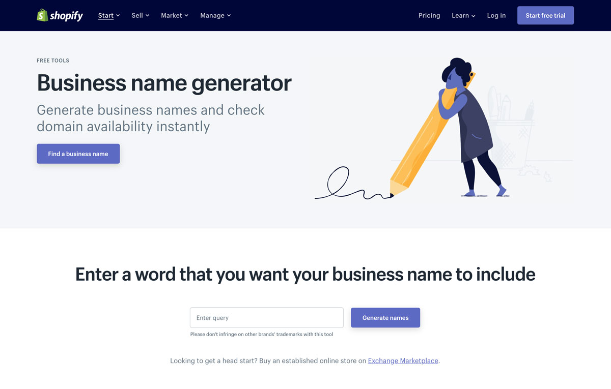 Shopify DTC business name generator - Luxe Digital