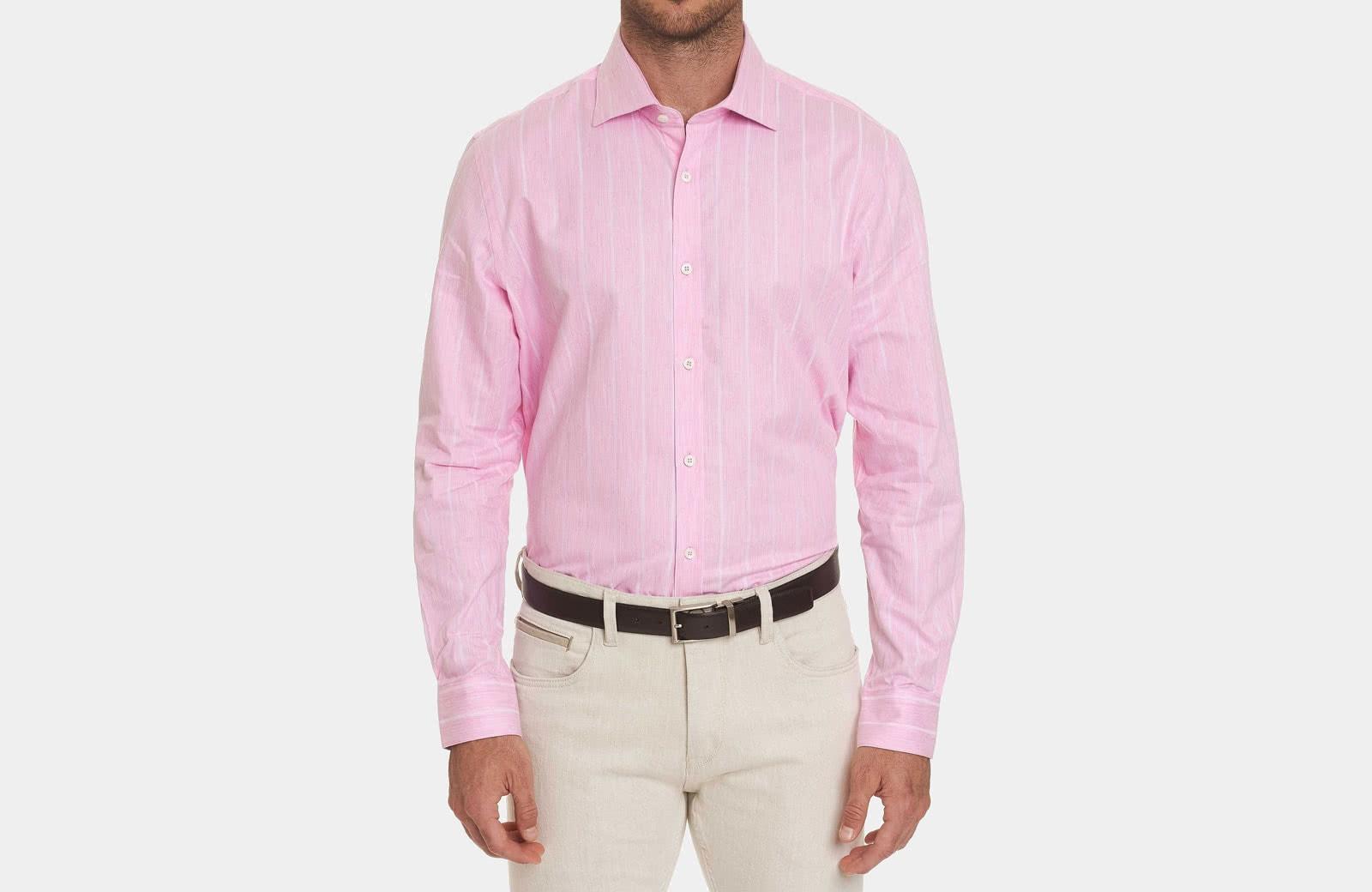 Robert Graham best men summer dress shirt pink - Luxe Digital
