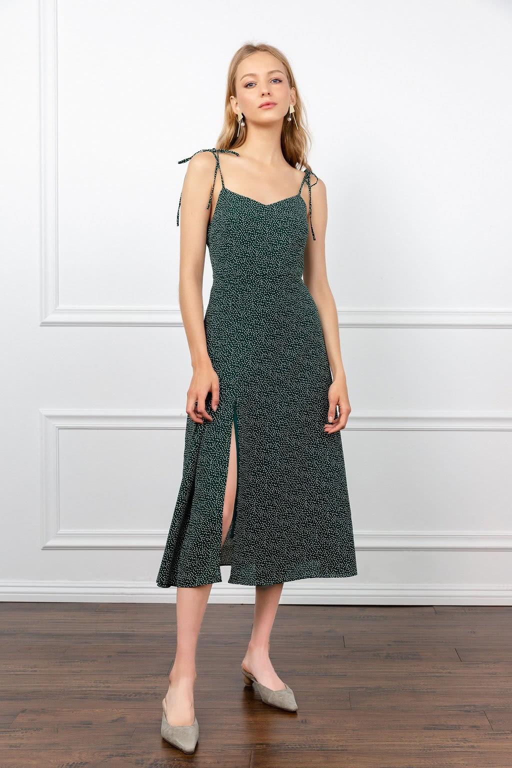J.ING green dress summer 2019 women - Luxe Digital
